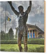 The Bronze Stallion - Rocky Balboa - Philadelphia - Pennsylvania - Rocky Steps Wood Print
