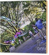The Bubble Man Of Central Park Wood Print