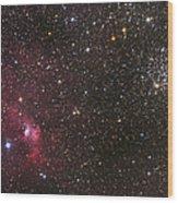 The Bubble Nebula Wood Print