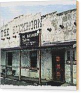 The Buckhorn Saloon Wood Print