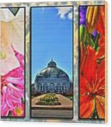 The Buffalo And Erie County Botanical Gardens Triptych Series Wood Print