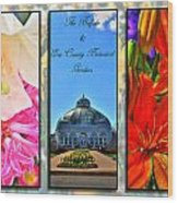 The Buffalo And Erie County Botanical Gardens Triptych Series With Text Wood Print