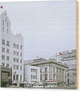 The Bund In Shanghai In China Wood Print