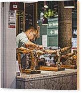 The Butcher Wood Print