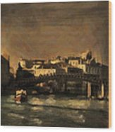 The Canal Venice Wood Print