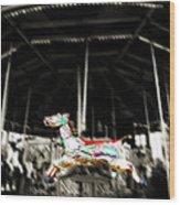 The Carousel Horse Wood Print