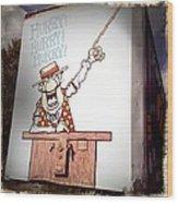 The Cartoon Carney Wood Print