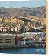 The Castle In Almeria Spain Wood Print