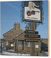 The Cat And Fiddle Pub Wood Print
