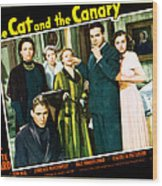 The Cat And The Canary, Front To Back Wood Print by Everett