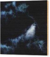 The Catbird Wood Print