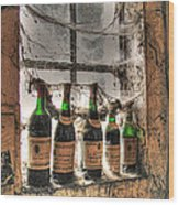 The Cellar Window Wood Print