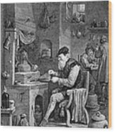 The Chemist, 17th Century Wood Print