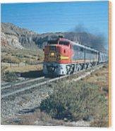 The Chief Train Wood Print