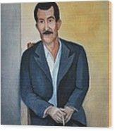 The Cigarette Wood Print by Kostas Koutsoukanidis
