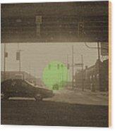 The Circle Green - Urban Perspective Wood Print