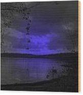 The Circle Violet Lake  Wood Print