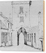 The City Gate Wood Print