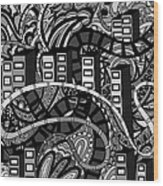 The City Wood Print