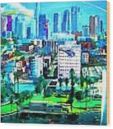 The City Of Angels Wood Print by Rom Galicia