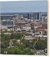 The City Of Birmingham Alabama Usa Vertical Wood Print