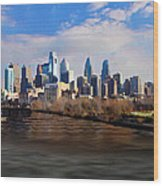 The City Of Brotherly Love Wood Print
