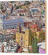 The City Of Guanajuato Wood Print