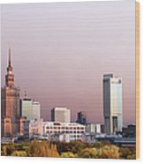 The City Of Warsaw Wood Print