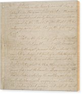 The Civil War. The Manuscript Wood Print