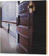 The Classroom Door Wood Print