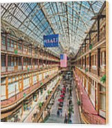 The Cleveland Arcade I Wood Print by Clarence Holmes