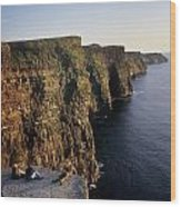 The Cliffs Of Moher, County Clare Wood Print