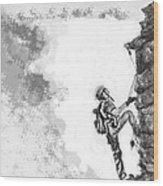 The Climber Wood Print