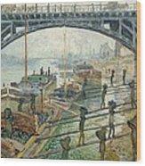 The Coal Workers Wood Print