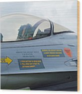 The Cockpit Of An F-16 Fighting Falcon Wood Print