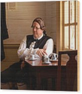 The Colonial Actor Wood Print