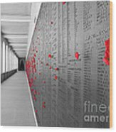The Color Of Remembrance Wood Print
