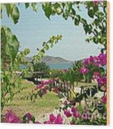 The Colors Of Paros Wood Print