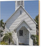 The Community Chapel Of Melbourne Beach Florida Wood Print