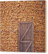 The Corn Crib Wood Print
