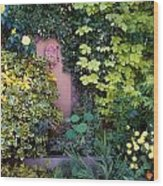 The Courtyard Garden, Fairfield Lodge Wood Print by The Irish Image Collection