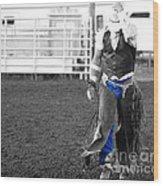 The Cowboy II Wood Print