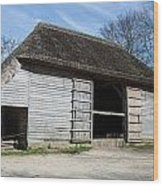 The Cowfold Barn Wood Print