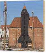 The Crane In Gdansk Wood Print
