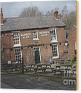 The Crooked House Wood Print