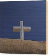 The Cross Above Saint Francis Catholic Wood Print by Raul Touzon