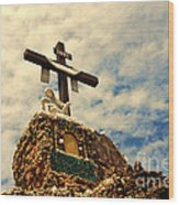 The Cross In The Grotto In Iowa Wood Print