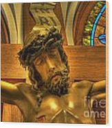 The Crucifiction Of Jesus Of Nazareth Wood Print by Lee Dos Santos