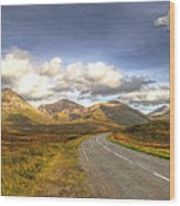 The Cuillin Mountains Of Skye Wood Print