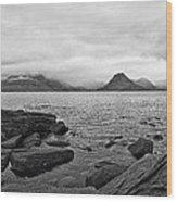 The Cuillin's In The Mist Wood Print
